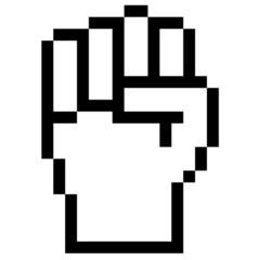 Pixelgrafik Hand - Faust