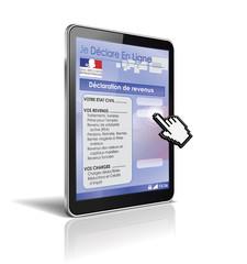 tablette tactile 3d : déclaration de revenus