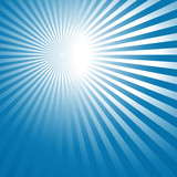 abstract background with blue sun rays