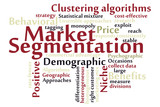 Market Segmentation word cloud
