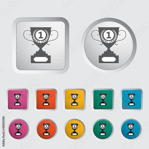 Cup single icon.