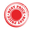Abstract red stamp with word best price