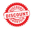 Abstract red stamp with word discount