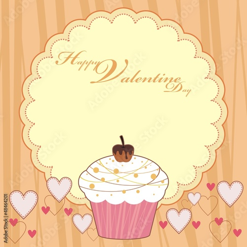 HAPPY VALENTINE DAY CUP CAKE