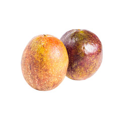 passion fruit isolated on white background,with clipping path