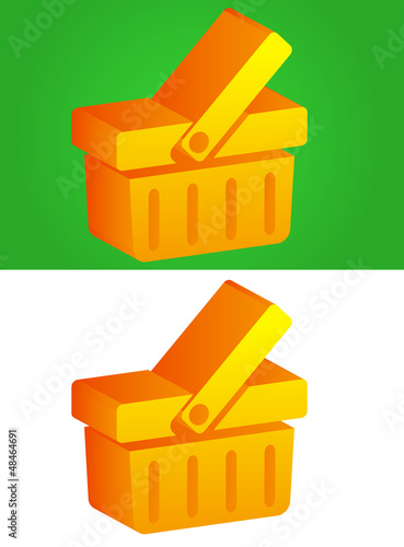 3D Basket Icon