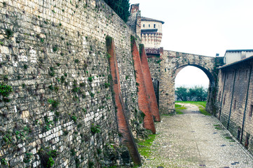 castle main entrance, brescia