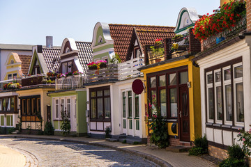 gasse in warnemünde