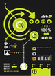 infographics set and Information technology Graphics vector