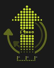infographics set dots arrows Modern style