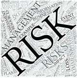 Risk management Disciplines Concept