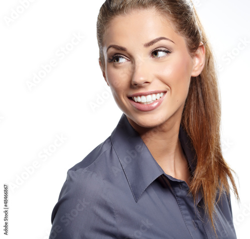 Beautiful European young  businesswoman