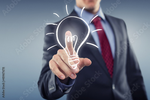 Idea Symbol with Lamp