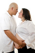 Cute hispanic american pregnant couple