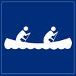 Schild blau - Boot fahren
