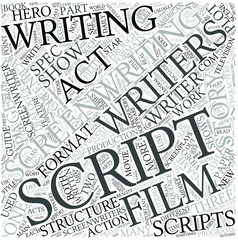 Screenwriting Disciplines Concept
