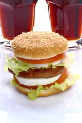 Hamburger e cola
