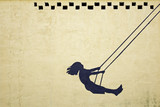 Girl swinging - 48469200
