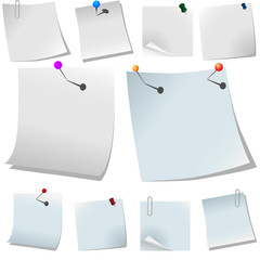 White memo paper set on white