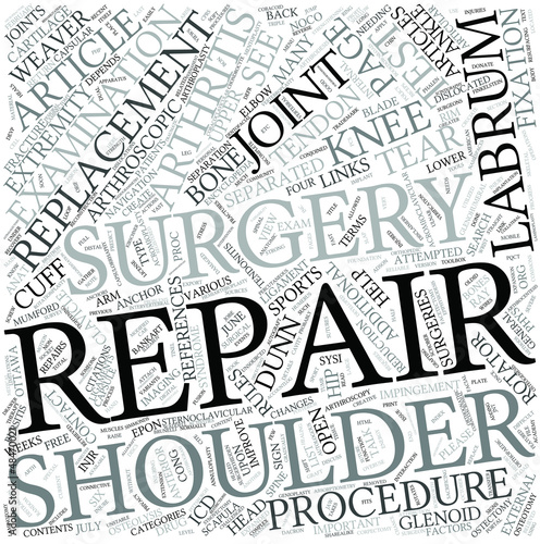 Shoulder surgery Disciplines Concept