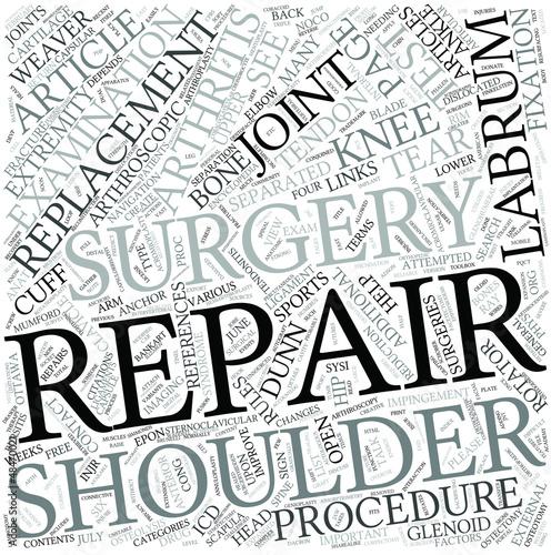 Shoulder surgery Disciplines Concept