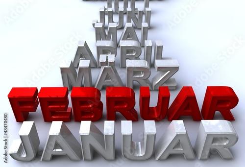 februar- monatsstrahl