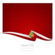 Portuguese flag red background vector