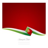 Portuguese flag green red background vector