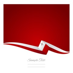 Maltese flag red background vector