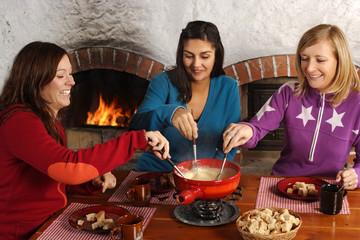Fondue dinner with friends