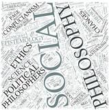 Social philosophy Disciplines Concept poster