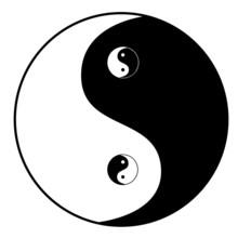 Ying yang symbool