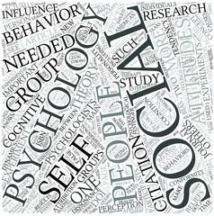 Social psychology (psychology) Disciplines Concept