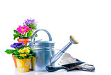 Fototapety Gartenarbeit im Frühling
