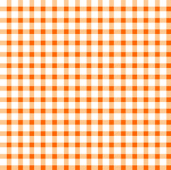 Seamless retro white-orange square tablecloth