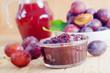 plum with jam