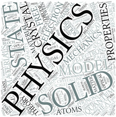 Solid state physics Disciplines Concept
