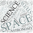 Space science Disciplines Concept