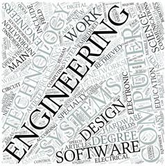 Computer engineering Disciplines Concept