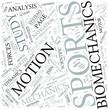 Sports Biomechanics Disciplines Concept