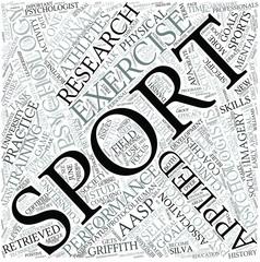 Sport psychology Disciplines Concept