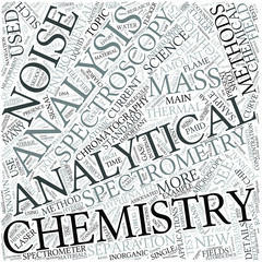 Analytical chemistry Disciplines Concept