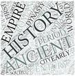 Ancient history Disciplines Concept