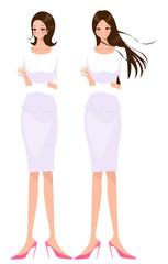 白衣の制服