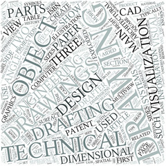 Technical drawing Disciplines Concept