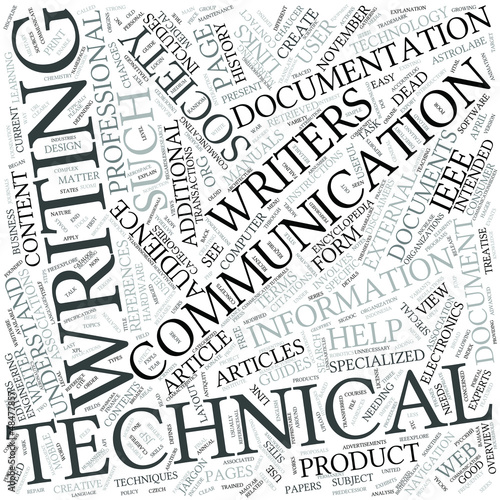 Technical writing Disciplines Concept