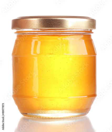 tasty honey isolated on white