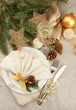 beautiful christmas setting, close up