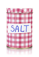 Salt container isolated on white