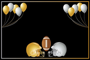 Football Gold Silver Design